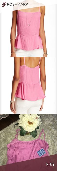 NWT Free People Donny printed tank Brand new. Excellent condition. Super soft. Has adjustable straps. 100% polyester. Free People Tops Tank Tops