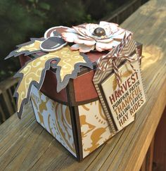 Pocket Explosion Box by Traci Penrod using cutting files and Echo Park Fall Refections papers designed by Lori Whitlock.