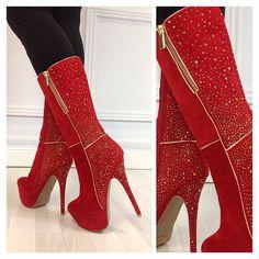 Red Heel Boots