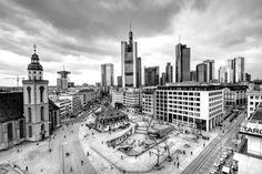 New free stock photo of black-and-white city landmark