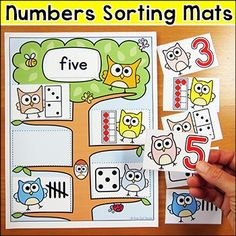 Number Sort - Owl Theme - Editable for any language
