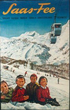 Saas-Fee ~ Valais ~ Switzerland Saas Fee, S Ki Photo, Ski Card, Ski Wedding, Vintage Ski Posters, Nordic Skiing, Ski Holidays, Journey, Retro