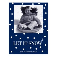 Let It Snow Christmas Holiday Photo Postcard - holiday card diy personalize design template cyo cards idea