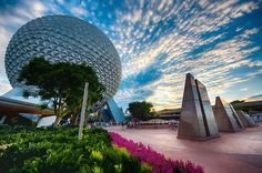 Great perspective Spaceship Earth and Leave a Legacy Walls