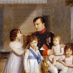 Napoleone con figli e nipoti Napoleon Quotes, First French Empire, Napoleon Josephine, British Soldier, Napoleonic Wars, Royals, France, Manga, History