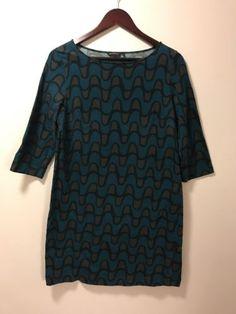 Marimekko-VIKLO-100-Cotton-Tunic-Dress-Beautiful-Print-Soft-To-Touch-M