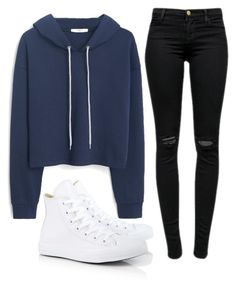 """""""Untitled #84"""" by vantaker ❤ liked on Polyvore featuring Converse, MANGO and J Brand"""