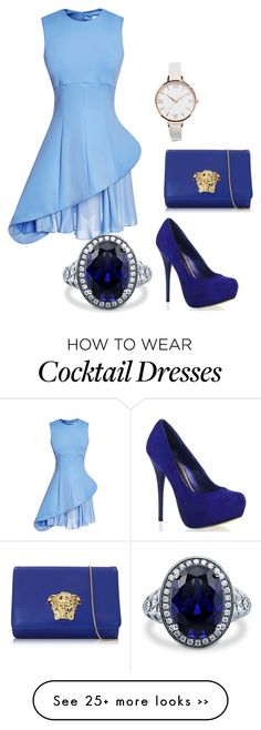 """Untitled #263"" by allycat3474 on Polyvore featuring Cushnie Et Ochs, Versace, BERRICLE and ASOS Curve"