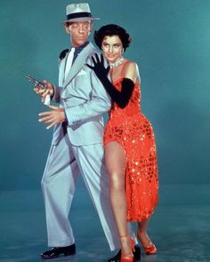 Fred Astaire and Cyd Charisse in a publicity portrait issued for the film, 'The Band Wagon' 1953