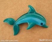 dolphin lampwork bead