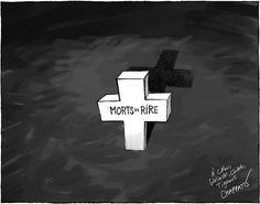 """""""Massacre de #CharlieHebdo dans le Temps, Genève""""https://twitter.com/chappatte/status/552930500583899136"""