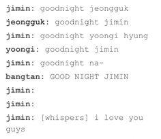 Hahahaha i can see this happening XD I love u so much jimin ❤️