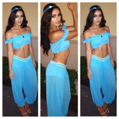 Jasmine Genie Costume & Rochelle and Marvin Humes wow as Aladdin and Jasmine at Disney bash ...