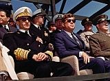 President Kennedy with the Shah Iran at Onslow Beach, Camp Lejeune, North Carolina. April 14, 1962 (Courtesy of JFK Library)