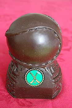 Gaelic Sports - Irish Hurling Sliotar Statuette - $49.50 - Irish Hurling Sliotar Statuette. Handcrafted from 5000 year old turf, a particularly suitable material as hurling itself is documented as having been played since ancient times in Ireland, as well as being Ireland's national sport Ireland, Irish, Gemstone Rings, Turquoise, Times, Reading, Sports, Books, Hs Sports