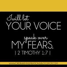 Hear GOD's voice over your fears