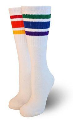 8366e51f87cea Courage- Kids Tube Socks. Fun TubeStriped Tube SocksKnee SocksBoot SocksHappy  SocksRainbow BabyRainbow PartiesPrideThigh Highs