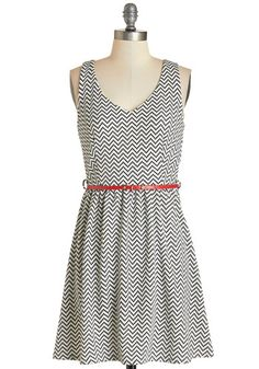 Shopping in the Sunshine Dress. The outdoor market seems even brighter today - is it the sunlight or this chevron tank dress youre wearing? #gold #prom #modcloth