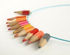 colored pencil necklace idea