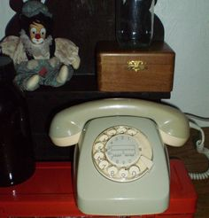 Vintage 1960s Square Telephone with rotarional by PorteDuSoleil, $47.50
