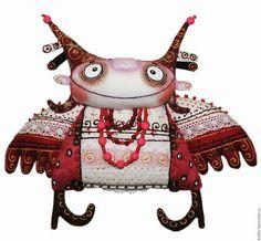 Коллекционные куклы ручной работы. Заказать Рябиновый ангел. Любовь Лаврентьева. Авторские куклы. Ярмарка Мастеров. Рябиновый ангел, текстиль