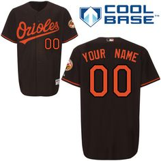 6aa809ac3 Orioles Personalized Authentic Black MLB Jersey (S-3XL) 1-99 3times over