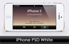 iPhone 5 Business Card Template | White & Black iPhone 5 Template Preview