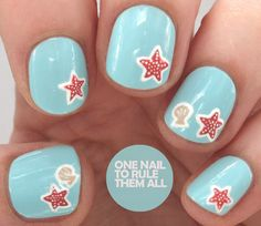 One Nail To Rule Them All: Tutorial Tuesday: Starfish Nail Art for Barry M