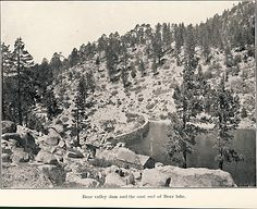 Big Bear Lake Dam, 1908. My great grandfather worked on the building of this dam.