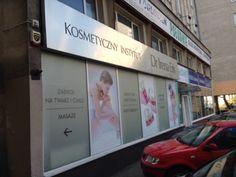 Oklejenie witryn salonu kosmetycznego - Dream Promotion