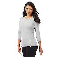 Red Herring - Grey zip detailed jumper