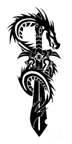 Design I did for friend who wanted a dragon from a previous design he saw but instead wanted a sword instead of a cross. He really enjoys it. Tribal Dragon and Sword Tattoo Orca Tattoo, Hamsa Tattoo, Compass Tattoo, Tiger Tattoo, Tattoo Ink, Dragon Tattoo Stencil, Tattoo Stencils, Dragon Tattoo Outline, Dragon Tattoo Drawing