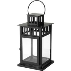 BORRBY Lantern for block candle In/outdoor black (77 SEK) ❤ liked on Polyvore featuring home and outdoors