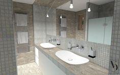 Épített mosdópult a fürdőben - fürdő / WC ötletek, modern stílusban