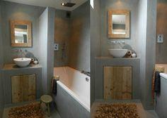 1000 images about badkamer on pinterest met google and grout - Hout voor de badkamer ...
