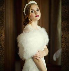Ivory Marabou Feather Shrug vintage stole bridal | Etsy Affordable Bridal, Bridal Cover Up, Engagement Celebration, Wedding Engagement, Wedding Wraps, Wedding Dress Accessories, Wedding Inspiration, Wedding Ideas, Fall Wedding
