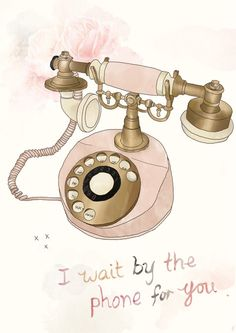 """""""Wait by the phone"""" by Tabitha Emma (etsy) $15"""