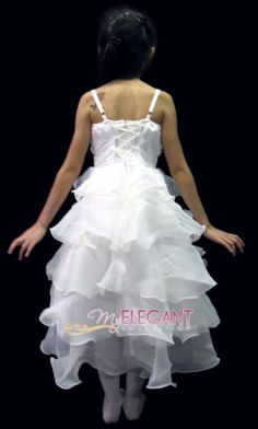 4974def1eec9b Robe De Mariage Tenues Cortège Filles Enfant 2-4 ans Blanc Girl Wedding Gown  100