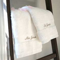 Personalised Mr And Mrs Wedding Towels - mr & mrs