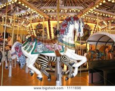 Fancy White Carousel Horse - …hand carved carousel horse