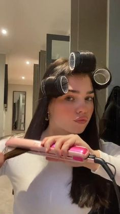 Curling Hair With Flat Iron, Hair Curling Tips, Curl Hair With Straightener, Curling Iron, Flat Iron Hair, How To Curl Hair With Flat Iron, Flat Iron Curls, Hair Iron, Hair Straightening