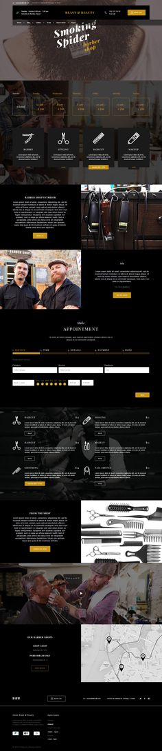 BnB - Beauty #Salon, Fitness, #Dark #Barber Shop WordPress Template #hairstyle