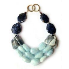 #LaDiosa  Aquamarine, Blue Jasper, Garnet & Sodalite