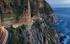 Chapman's Peak Drive has some of the most scenic twists & turns in South Africa! I loved this - no longer open :( Namibia, Cape Town South Africa, Out Of Africa, Parc National, Africa Travel, Pretoria, Wonders Of The World, Places To See, Beautiful Places