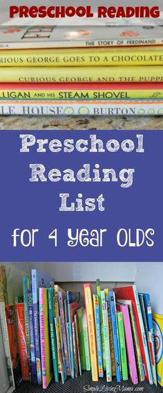 This preschool reading list for 4 yeard olds includes classics that you just can't miss!