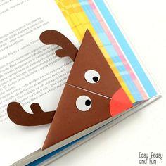 DIY Reindeer Corner Bookmark