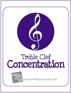 Music Theory Concentration Game | Free Printable Cards