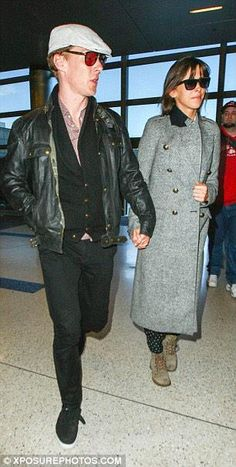 Benedict Cumberbatch and Sophie Hunter at LAX, 04 January 2015