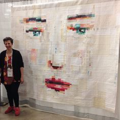 """""""I met the super nice @melissaaverinos today and here she is with her award winning quilt! #quiltcon"""""""