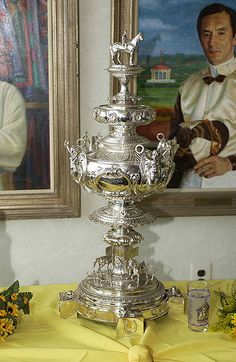The Woodlawn Vase is awarded to the winner of the #Preakness States each year. The priceless trophy is appraised at more than four million dollars.